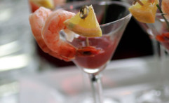 Chilled Lemongrass Poached Prawn Martini
