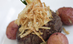 Mesquite Grilled Petite Filet w/ Roasted Baby Potatoes & California Asparagus